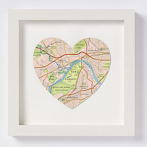 Kew Gardens Map Heart Print
