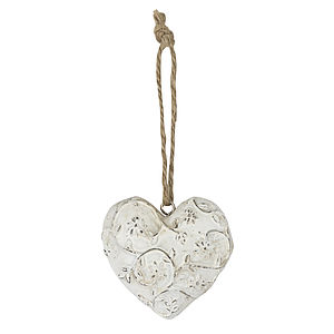 Wooden Hanging Heart Decoration