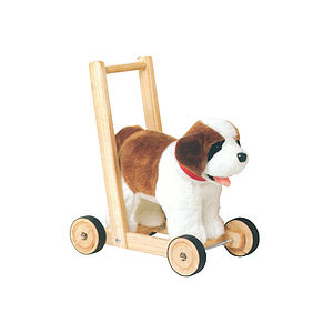 St Bernard Push Along Baby Walker - soft toys & dolls