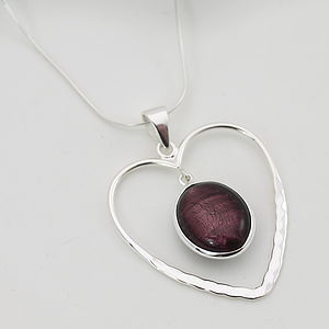 Heart Pendant In Silver With Murano Glass - women's jewellery