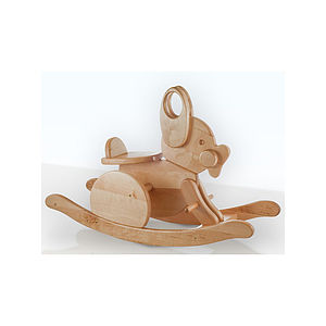Wooden Rocking Rabbit - traditional toys & games