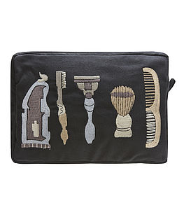 Embroidered Wash Bag - men's grooming & toiletries