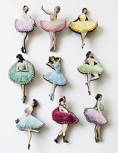 Ballerina Brooch - pins & brooches