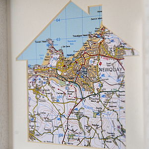 Our House Personalised Map Artwork - decorative accessories