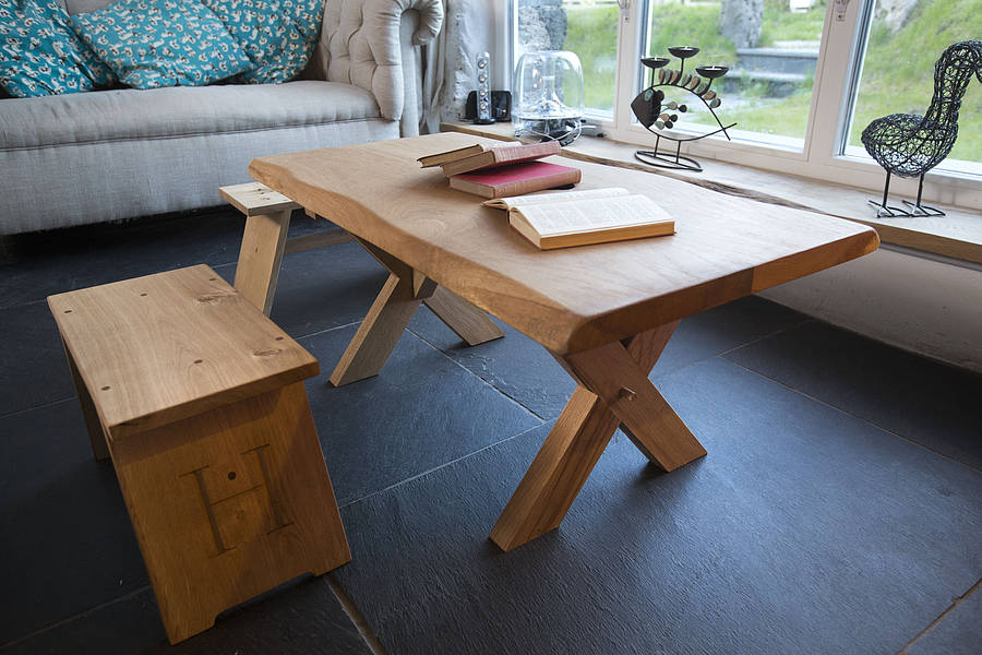High Quality Handmade Oak Coffee Table