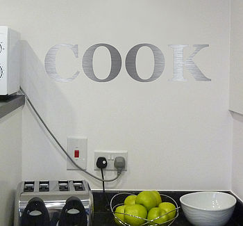 Personalised Stainless Steel Wall Sticker