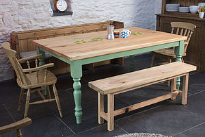 Traditional Farmhouse Kitchen Table - furniture
