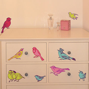 Vintage Birds Wall Stickers