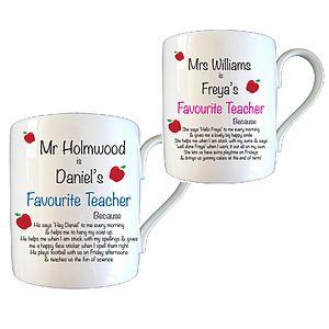 Personalised Mug Thank You Teacher Gifts