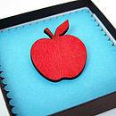 Teachers Thank You Apple Brooch