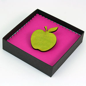 Teachers Thank You Apple Brooch - gifts for teachers