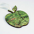 Teachers Thank You Apple Map Location Keepsake