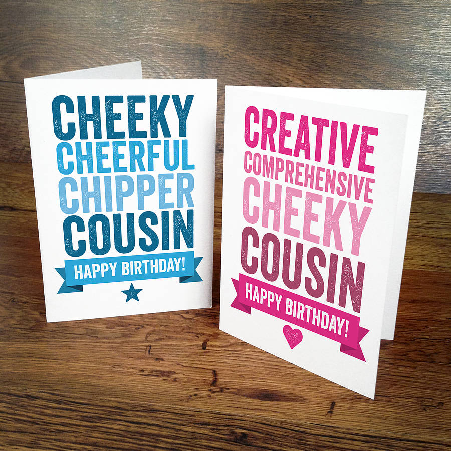 personalised birthday card for cousin by a is for alphabet – Birthday Cards Cousin