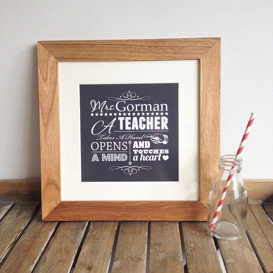 personalised teacher gift print - Teacher Pictures To Print