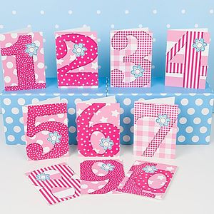 Pack Of 10 Girls 'Age' Birthday Cards