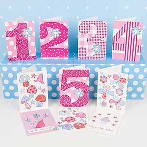 Pack Of Ten Birthday Cards For Younger Girls - winter sale