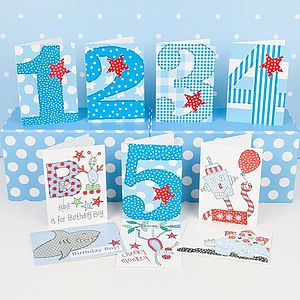 Pack Of 10 Birthday Cards For Younger Boys