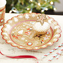 Vintage Style Christmas Party Paper Plates
