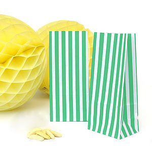 Tall Striped Paper Bags - ribbon & wrap