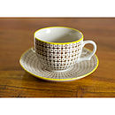 Carla Retro Style Teacup And Saucer