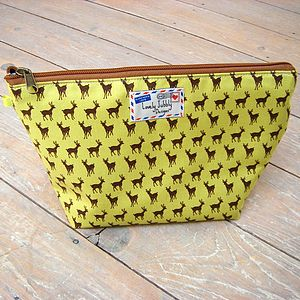 Deer Stag Toiletry Cosmetic Wash Bag - women's accessories