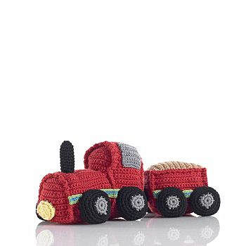 Soft Crochet Train Rattle