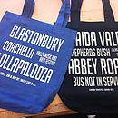 Personalised Music Festival Shopper Beach Bag
