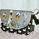 Swan Purse Or Make Up Bag