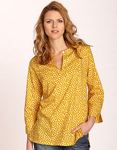 Liberty Sunflower Top - blouses & shirts