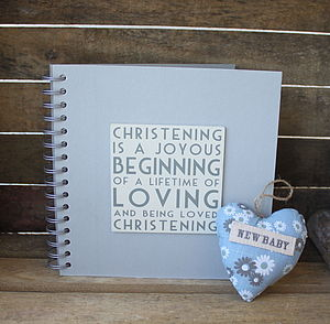 Christening Album/ Memory Book - christening gifts