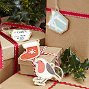 Vintage Style Christmas Present Tags / Labels
