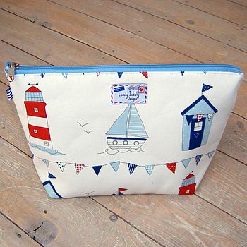 Sail Boats Nautical Toiletry Wash Bag