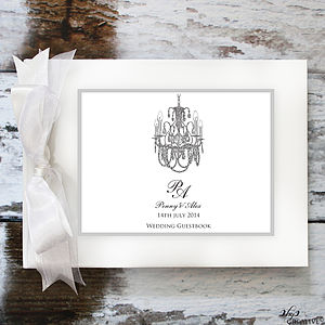 Personalised Chandelier Guest Book - guest books