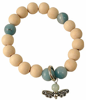 White Wood Charm Bracelet