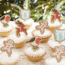 Mince Pie / Cupcake Christmas Decorations