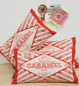 Caramel Wrapper Cushion - patterned cushions