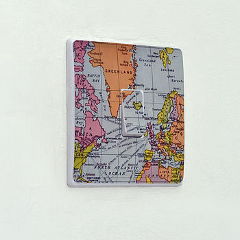 Map Light Switch Sticker