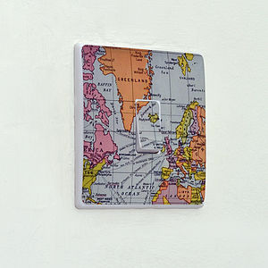 Map Light Switch Sticker - bedroom