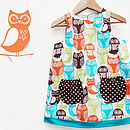 Thumb owl print girls dress