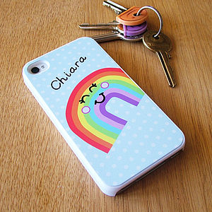 Rainbow iPhone Cover Can Be Personalised - gifts for teenage girls