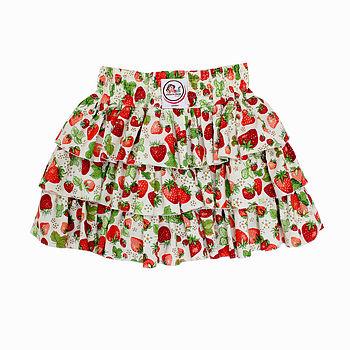 Girl's Strawberry Ruffled Skirt