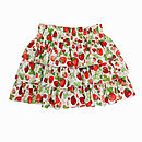Girl's Strawberry Ruffled Skirt