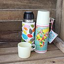 Funky Flowery/Map Thermos Flask