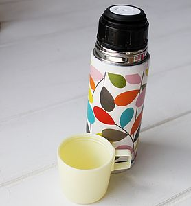 Retro Ivy Thermal Flask - flasks & waterbottles