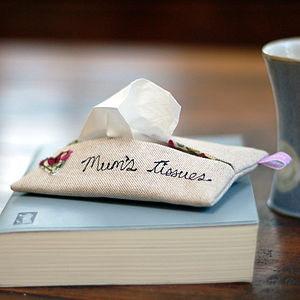Handmade 'Mum's Tissues' Holder - handkerchiefs