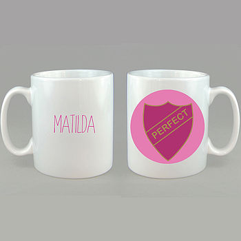 Personalised Badge Mug