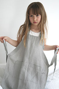 Stonewashed Linen Apron For Children - stationery & creative activities