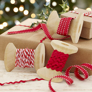 Christmas Ribbons Kit For Present Wrapping - wrapping paper