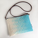 Chevron Cross Body Or Clutch Bag