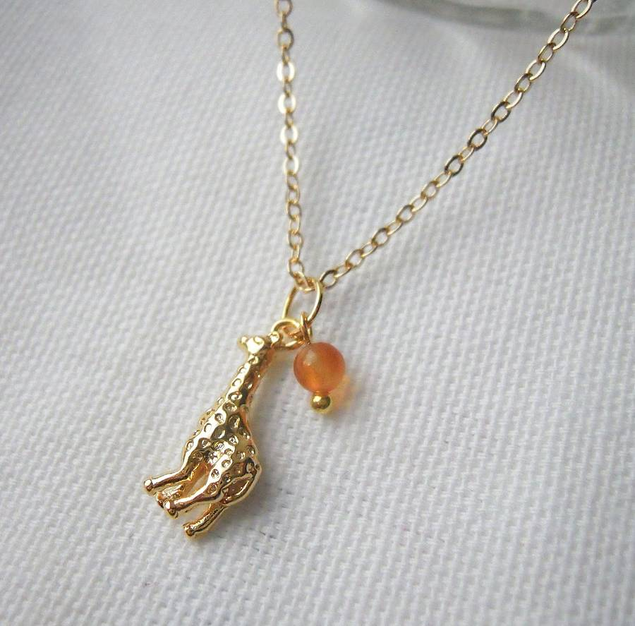 jewels jamber gold jewelry origami products giraffe sterling silver necklace animal